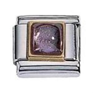 Afbeelding van Zoppini - 9mm - synthetische steen vierkant paars