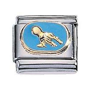 Afbeelding van Zoppini - 9mm - horoscoop waterman emaille