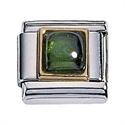 Afbeelding van Zoppini - 9mm - synthetische steen vierkant groen