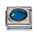 Afbeelding van Zoppini - 9mm - Synthetische steen blauw
