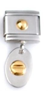 Afbeelding van Zoppini - 9mm - hangers goud schroef op plaat